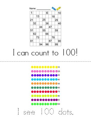 I Can Count to 100! Book