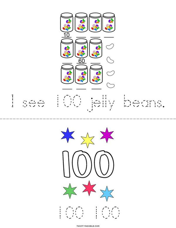 I Can Count to 100! Mini Book - Sheet 2