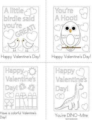 Printable Class Valentine  Book