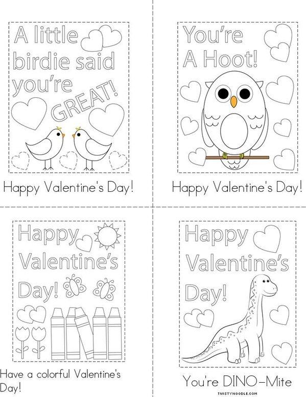 Printable Class Valentine  Mini Book