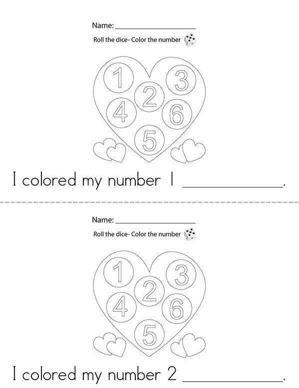 Roll the Dice Mini Book - Sheet 1