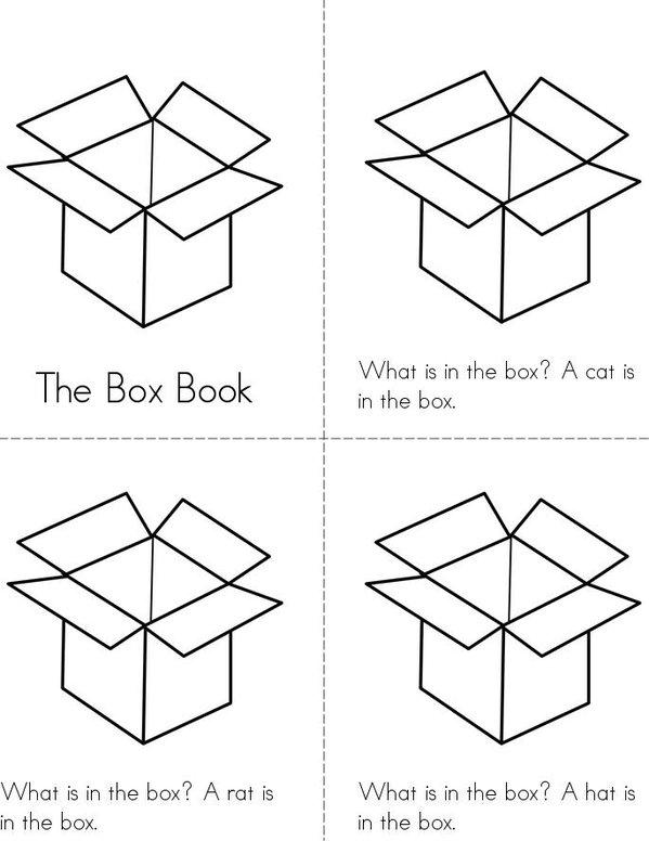 The Box Book Mini Book - Sheet 1