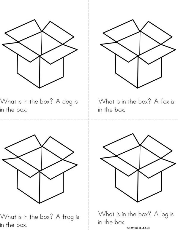 The Box Book Mini Book - Sheet 2