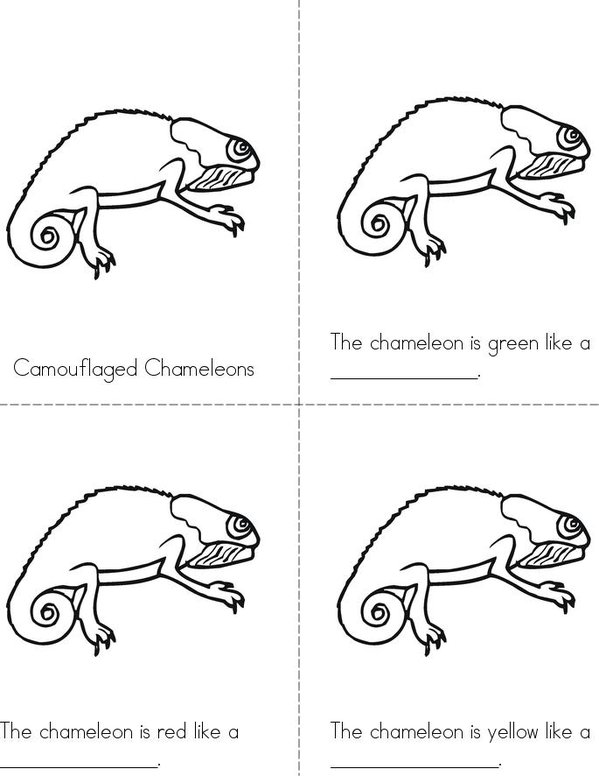 Camouflaged Chameleons Mini Book - Sheet 1