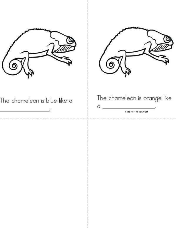 Camouflaged Chameleons Mini Book - Sheet 2
