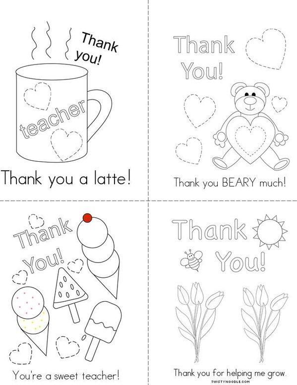 Thank You! Mini Book
