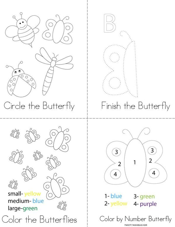 Butterfly Activity Book Mini Book