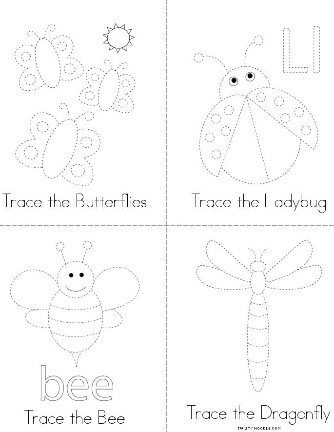 Insect Tracing Book - Twisty Noodle