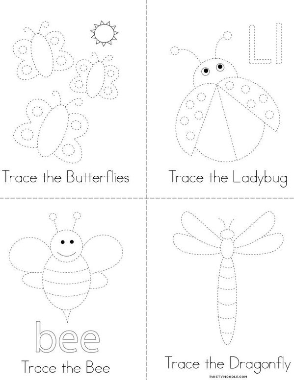 Insect Tracing Mini Book