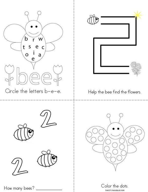 Bee Activity Book Mini Book