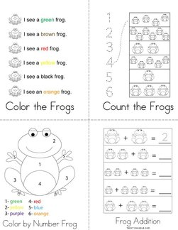 Frog Activity Book
