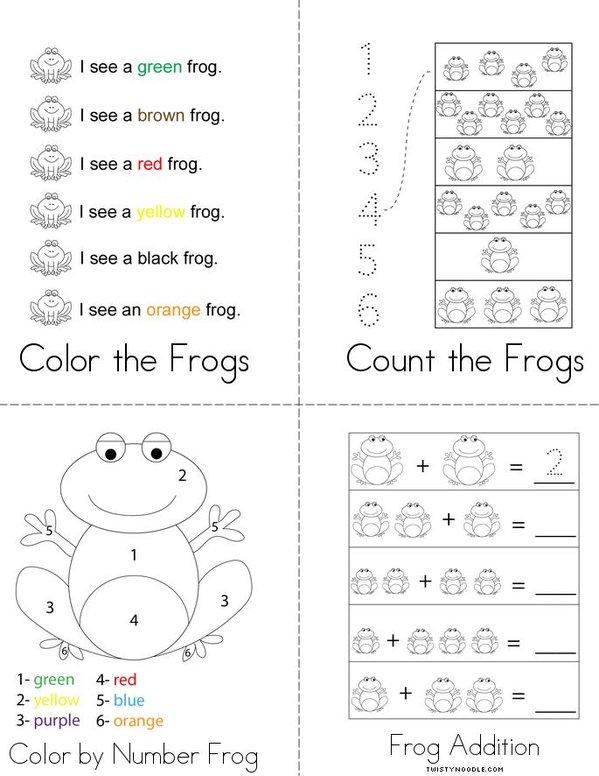 Frog Activity Book Mini Book