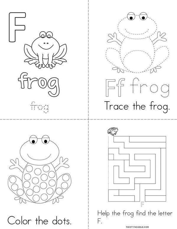 F is for Frog Mini Book