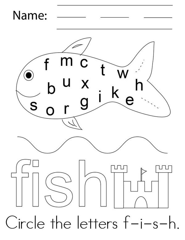Fish Activity Book Mini Book - Sheet 3