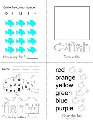 Fish Activity Book