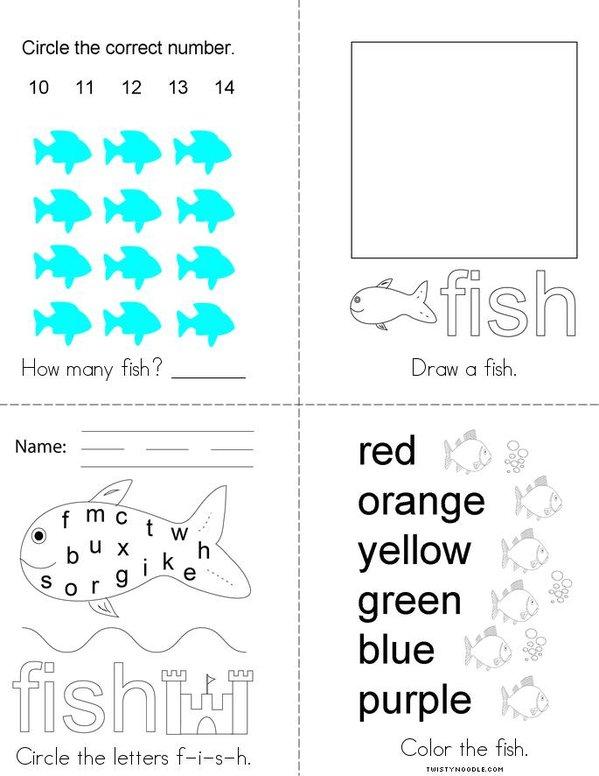 Fish Activity Book Mini Book