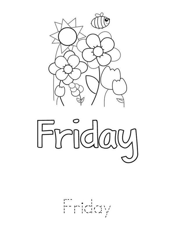 Days of the Week Mini Book - Sheet 7