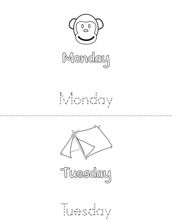 Days of the Week Mini Book - Sheet 2