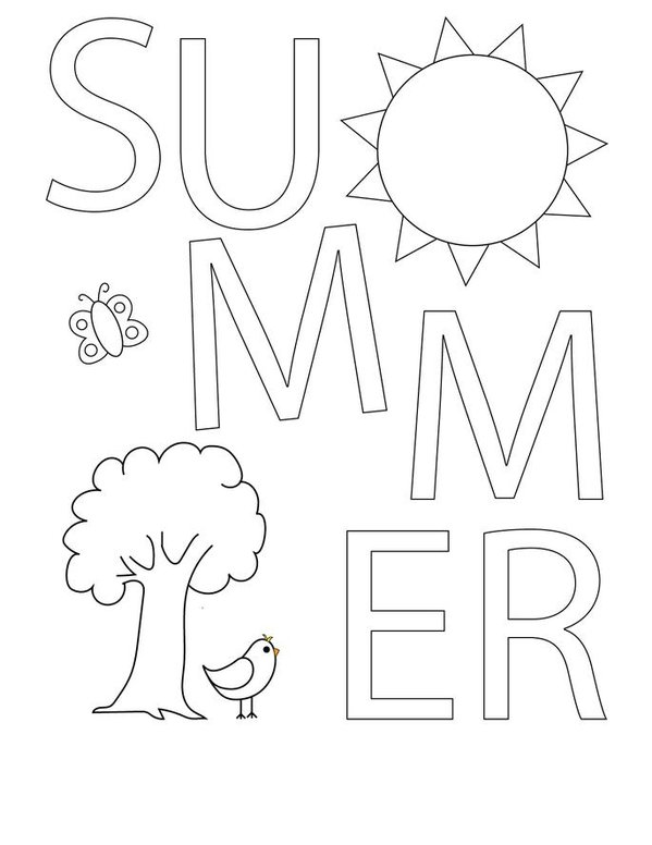 I Love Summer Mini Book - Sheet 2