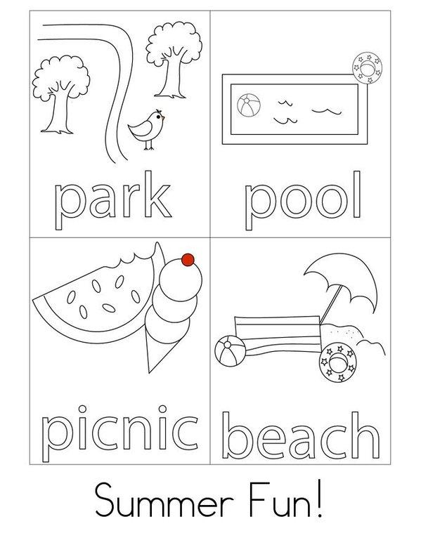 I Love Summer Mini Book - Sheet 3