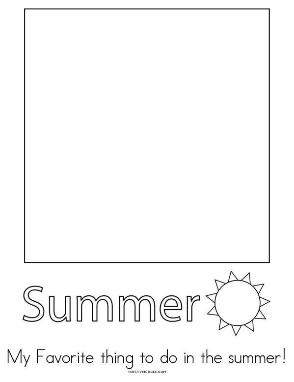 I Love Summer Mini Book - Sheet 4