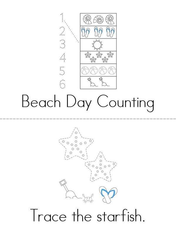 Beach Activity Book Mini Book - Sheet 1