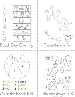 Beach Activity Book