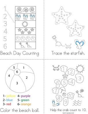 Beach Activity Book