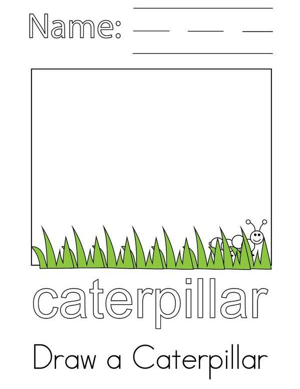 Caterpillar Activity Book Mini Book - Sheet 1