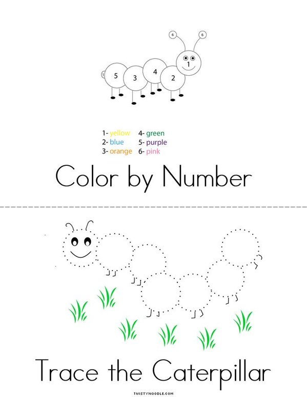 Caterpillar Activity Book Mini Book - Sheet 2