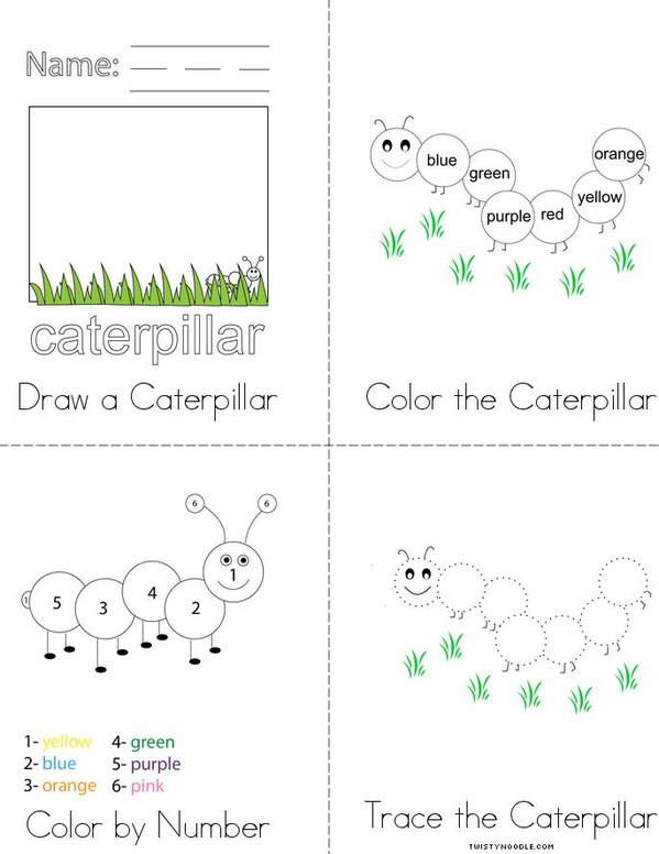 Caterpillar Activity Book Mini Book