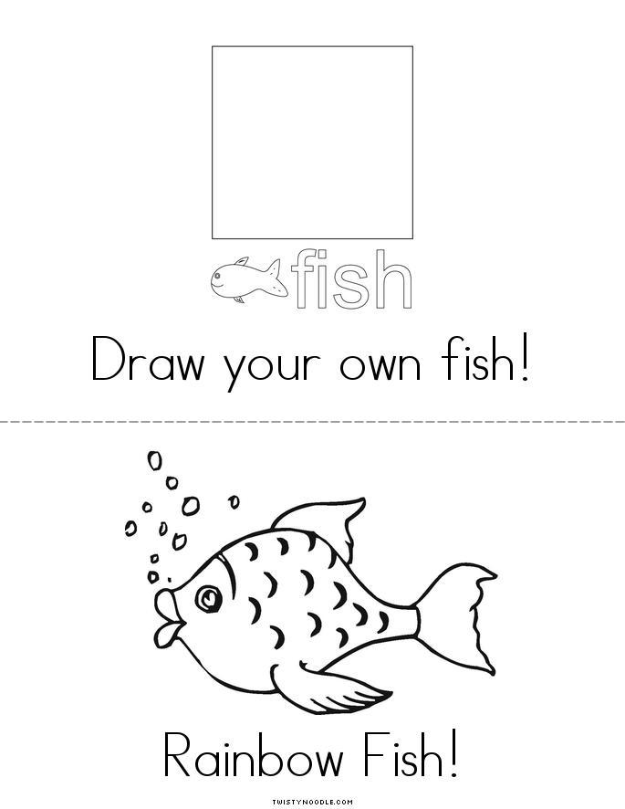 Rainbow fish color book - Twisty Noodle