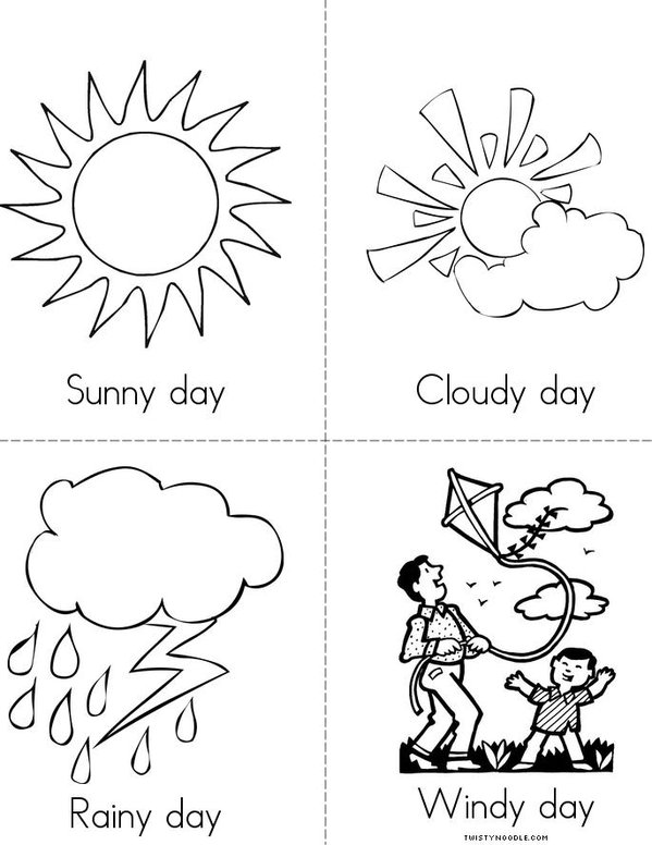 How is the weather today book twisty noodle for Weather coloring pages