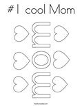 #1 cool Mom Coloring Page