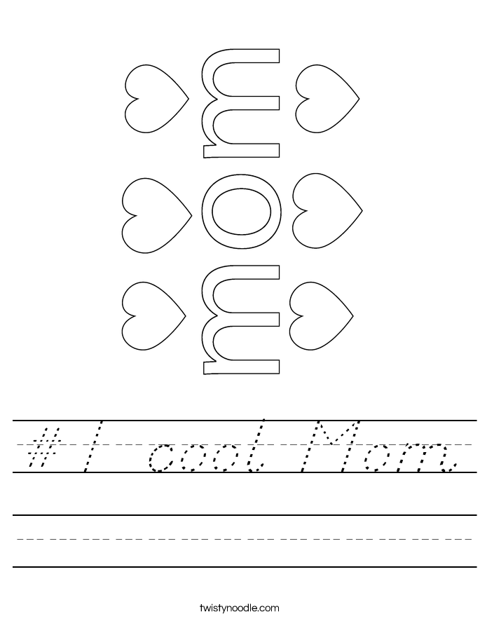 #1 cool Mom Worksheet