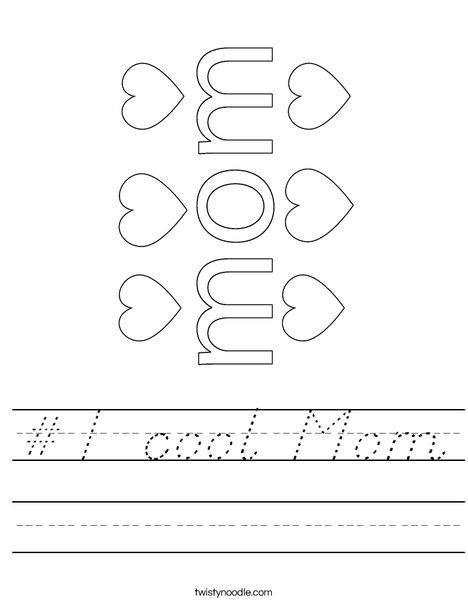 #1 Mom Worksheet