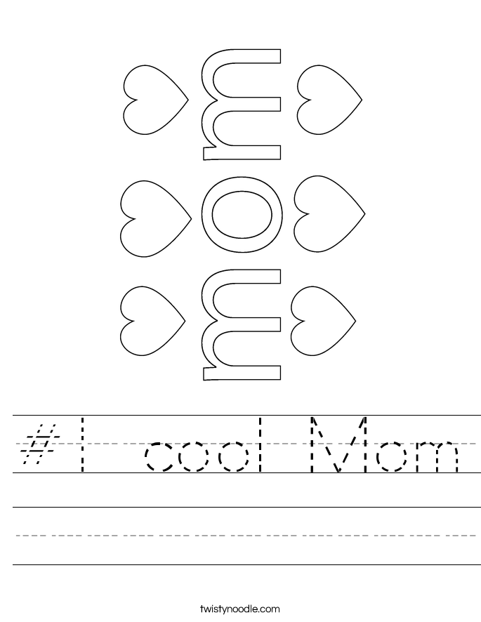 #1 cool Mom Worksheet