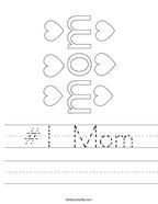 #1 Mom Handwriting Sheet