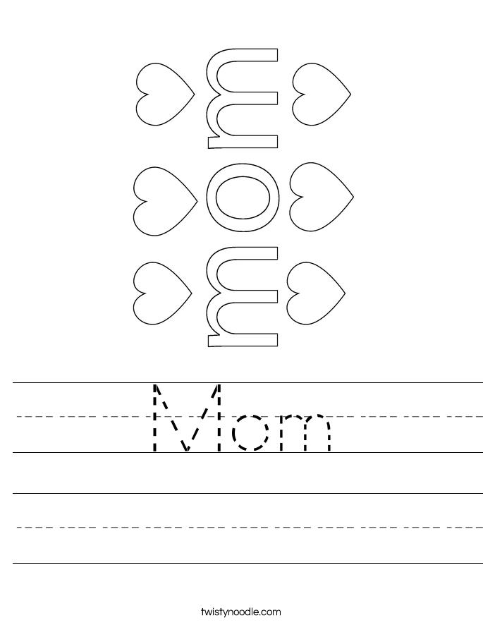 Mom Worksheet