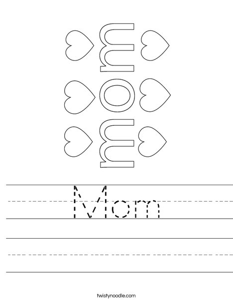 #1 Mom Worksheet