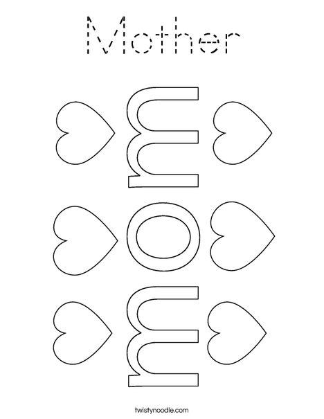 #1 Mom Coloring Page