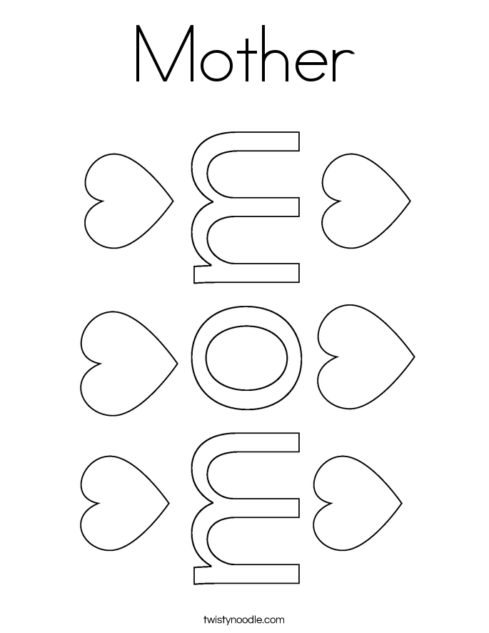 Mother Coloring Page