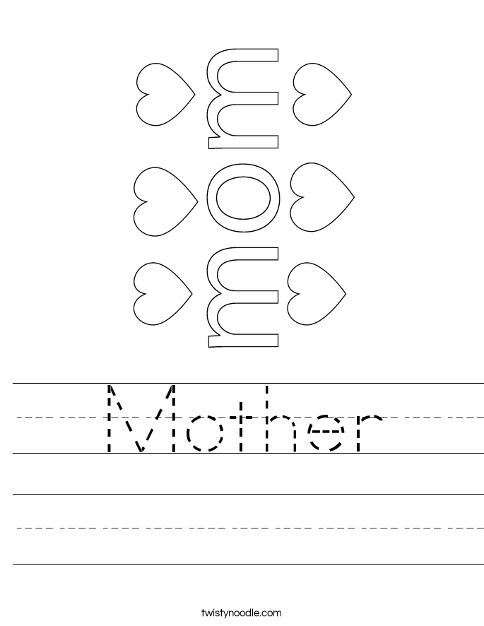 Mother S Day Coloring Worksheet : Mother worksheet twisty noodle