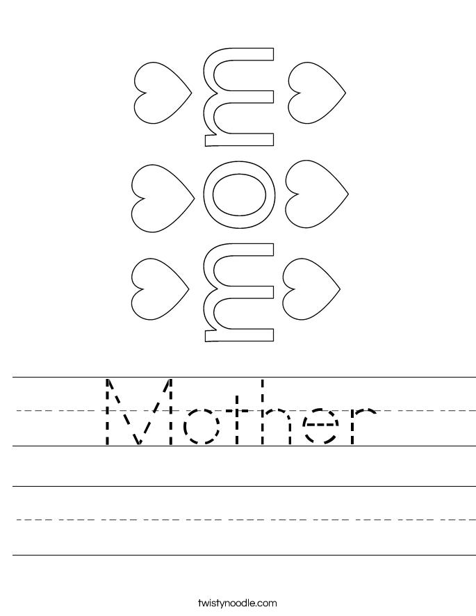 Mother Worksheet