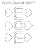 World's Greatest Mom!!!!Coloring Page