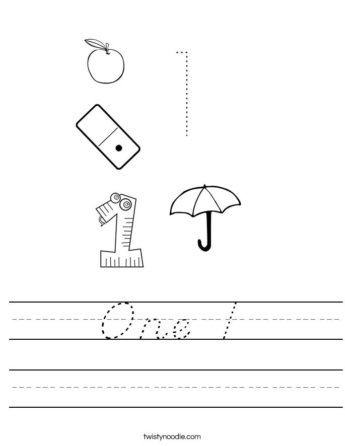 One 1 Worksheet