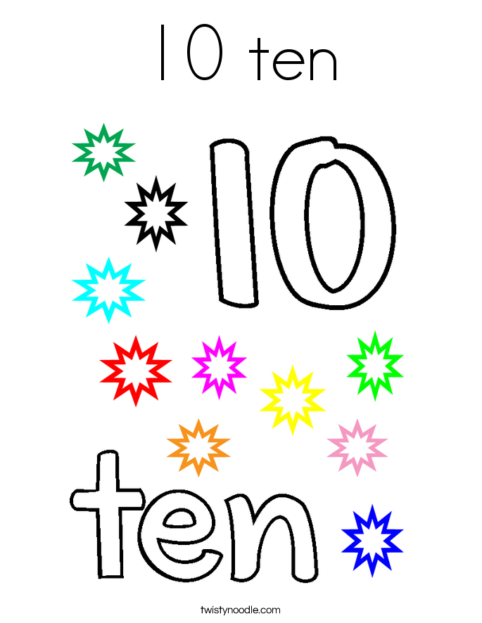 Number 10 Coloring Page Coloring Pages Coloring Coloring Pages