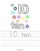 10 ten Worksheet