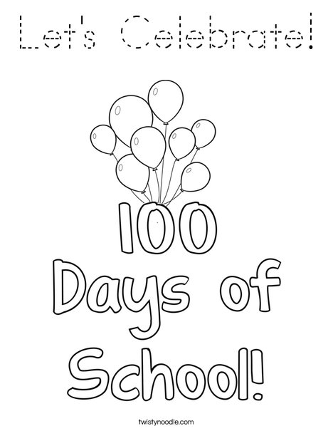 100 days of school Coloring Page