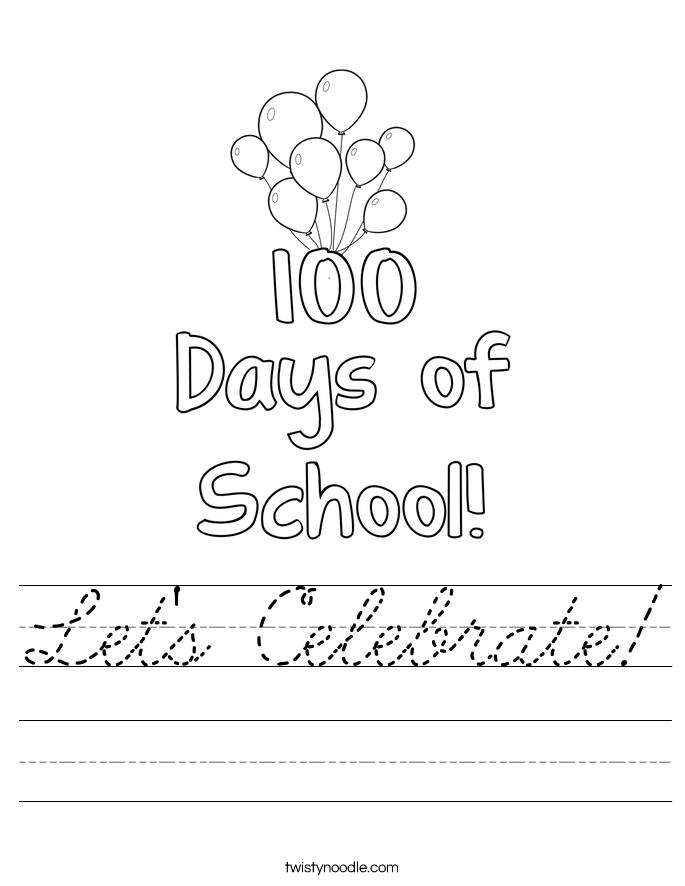 Let's Celebrate! Worksheet